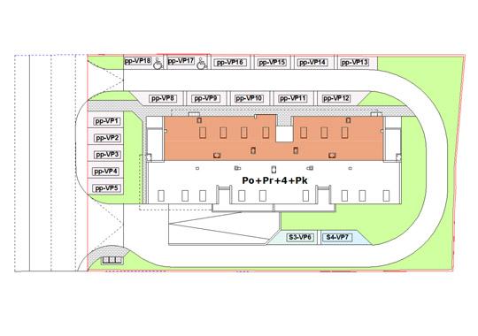 Položaj vanjskih mjesta za parking uz objekt SP-28